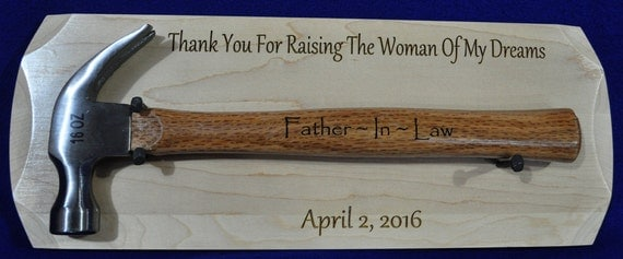 Father In Law Gift Gift For Bride's Dad Engraved