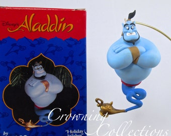 Enesco Disney The Genie Holiday Wishes Aladdin Ornament Magic Lamp Treasury of Christmas Vintage