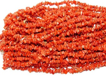 100% Natural Italian Red Coral Chips  Quality Size is 16''Inch Top Quality On Whole Sale Price.