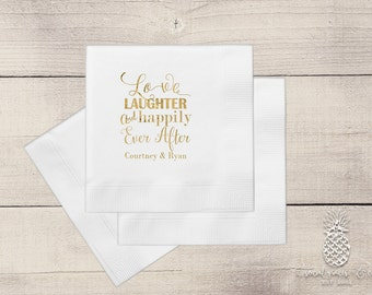 Letterpress Foil Wedding Napkins