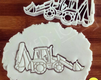 Classic excavator digger and others cookie cutter | biscuit cutters | one of a kind ooak discovery site life excavation excavators fun party