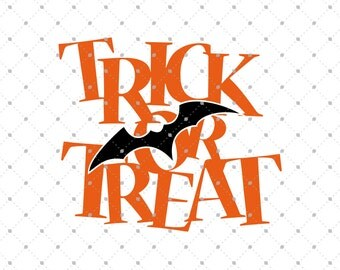 Halloween Trick or Treat SVG cut files, Halloween svg, Trick or Treat svg cut files for Cricut, Cut files for Silhouette, svg files D2
