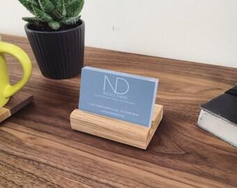 Wooden Business Card Holder | Handmade | Walnut | Oak