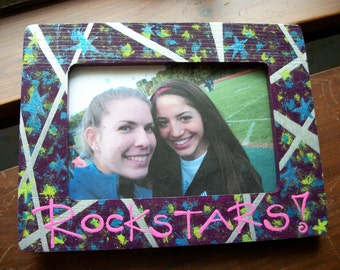 Custom Hand Painted 4x6 Wooden Picture Frame - Friendship