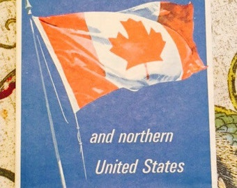 Vintage Travel - Canadian Road Map