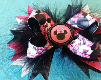 Minnie Mouse Stacked Hairbow