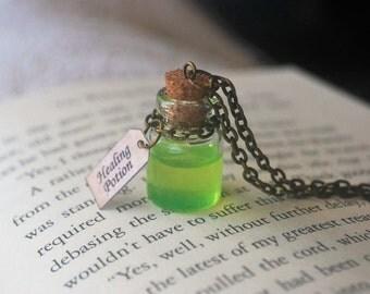 Healing Potion Bottle Pendant