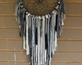 Handmade Dreamcatcher - Black, Gray, White - Urban Outfitters, Free People