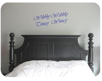 Wibbly wobbly, timey wimey- Doctor Who, wall decal