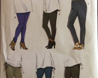 Butterick B5657 - Leggings with Snaps, Buckles, Zipper and Elastic Gather Trim Options - Size 22 24 26 28