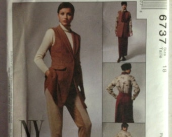 McCalls 6737 - NY Collection Equestrian Style Jacket, Skirt, and Pants - Size 18 Bust 40