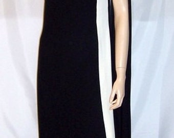 An Original by Date-Maker Formals-Striking Black and White Gown