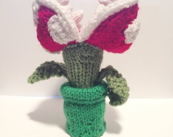 Knit Piranha Plant Super Mario Bros. (NES, Super Nintendo)