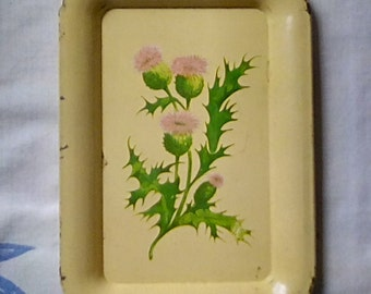 Small Metal Thistle Tray