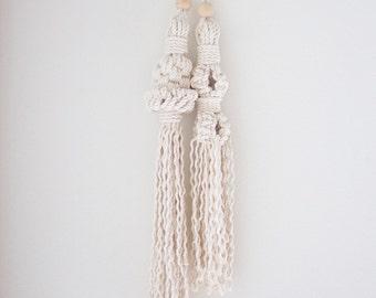 Macrame Door Tassels - Single Color