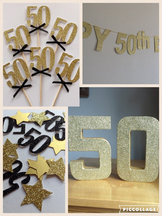 50th birthday party package black and gold 50th 50th