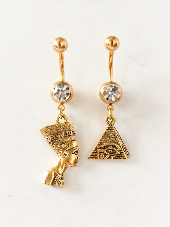 Egyptian Themed Belly Button Rings