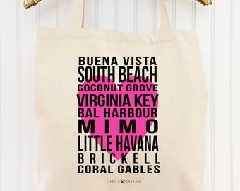 "The ""Heart of the City"" Miami Tote Bag-Fun & Fabulous Tote Bags and Gifts"