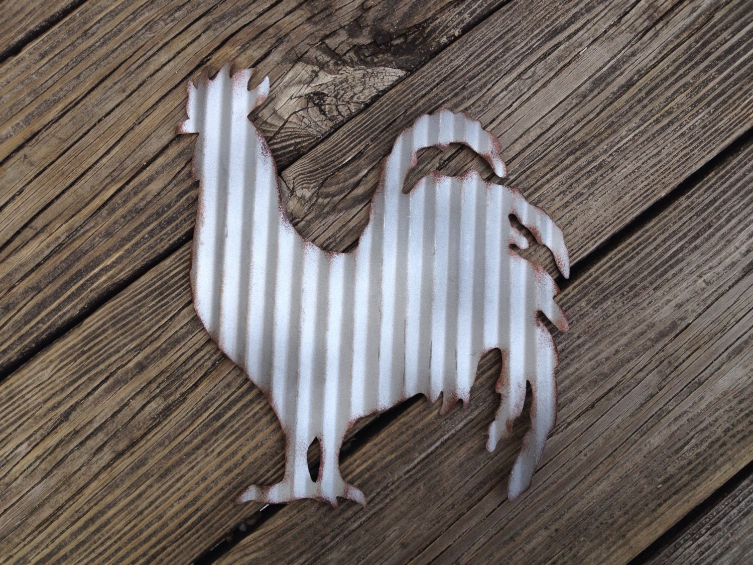 galvanized metal rooster industrial wall decor rustic. Black Bedroom Furniture Sets. Home Design Ideas