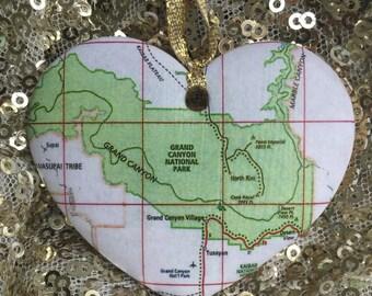 Grand Canyon Map Ornament
