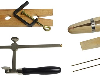 Jewelry Making Tool Kit w/ Saw Frame, Ring Clamp, Bench Pin, and Blades - KIT-0083