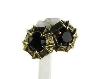 Tara Red Rhinestone Earrings