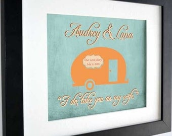 Retro rv camper decor, gift for wife, camper home, camper sign, tiny home housewarming gift, anniversary, travel trailer decor, glamping