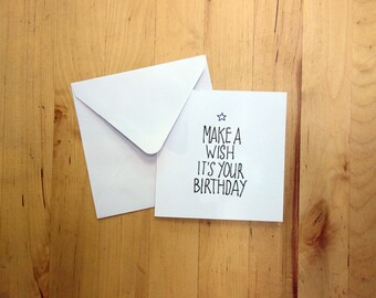 Happy Birthday Card, folded, blank inside, with envelope. You can choose from 3 diverend cards.