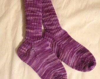 Children's Heavy Winter Socks, Hand Knit Size 3 -6