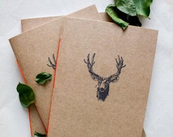 travel journal, personalized journal, deer journal, prayer journal, small sketchbook, hunting journal, writing journal, deer notebook