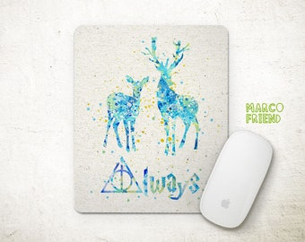 Harry Potter Patronus Charm Watercolor Art Mouse Pad - Mousepad - Home Decor - Gift - Nursery - Office Desk - Harry Potter Accessories -P19