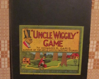 1916 Uncle Wiggily Game Board Original 1st Ed Graphics by Howard R. Garis, author of the 'Uncle Wiggily Bedtime Stories'