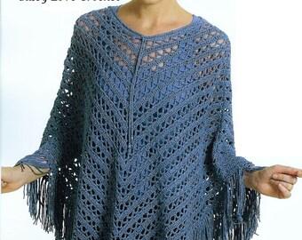 Boho Crochet Poncho Fringe Pattern, Ponchos, Boho Wrap, Blanket Wrap, Large Scarf, Boho Womens Ponchos Pattern - PDF Download
