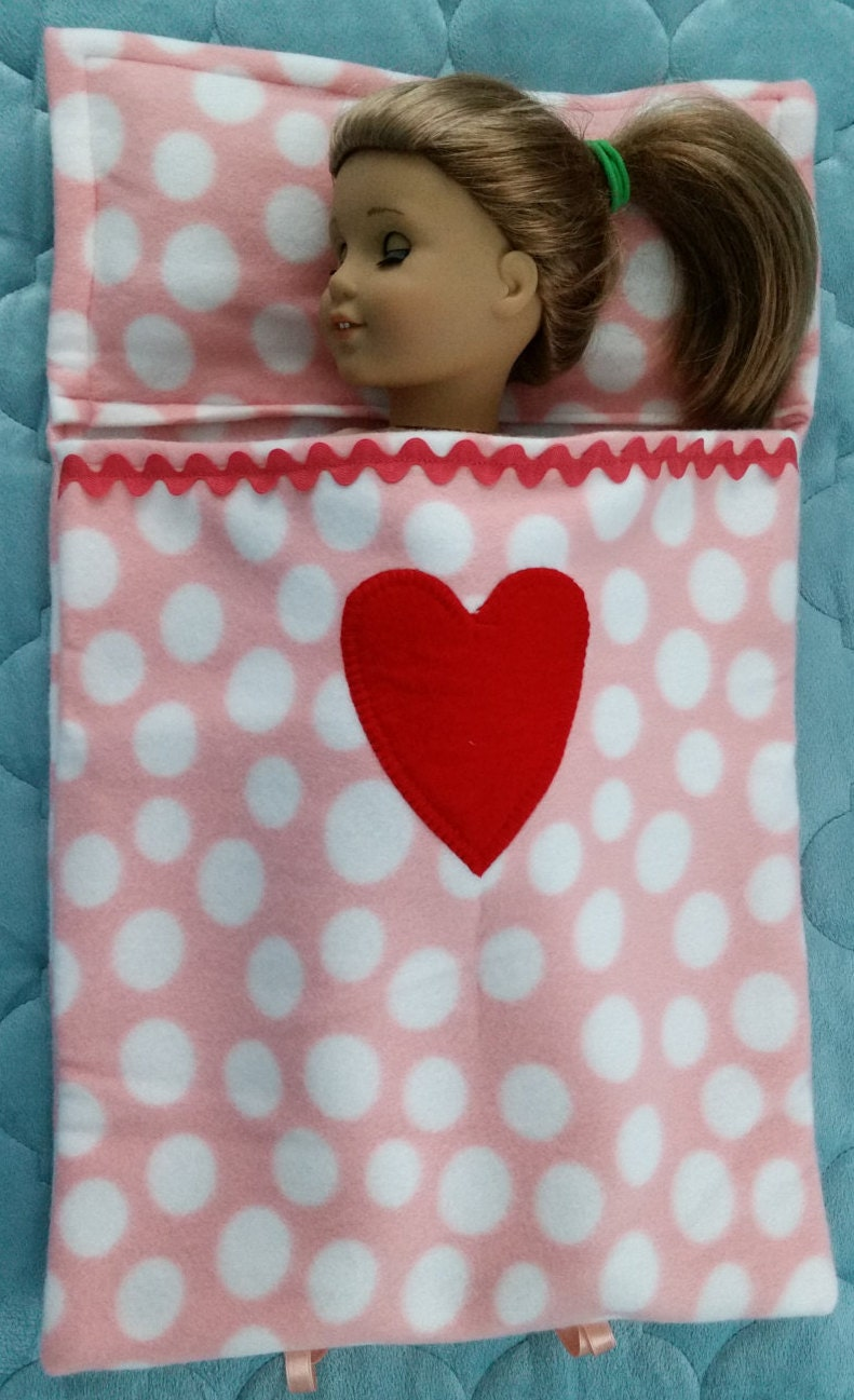 Handmade Cute Sleeping Bag Bed For An 18 Doll Or Build