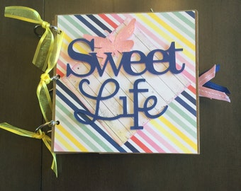Sweet Life Butterfly 6x6 Paper Bag Album
