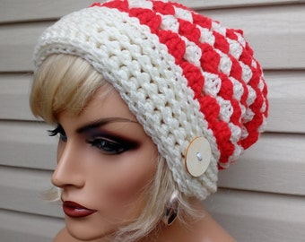 Crochet Slouchy Hat, Teen Hat, Teen Gift, Slouchy Hat