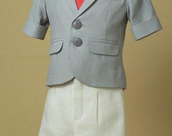 Boy Special Occasion Wear, Dominic Suit, Summer Suit For Boys, Linen Boy Summer Suit, Chic Suit For Boys, Little Sailor Suit, Easter Suit