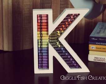 Crayon Letter: Great for Teacher's Gift or Kid's Room