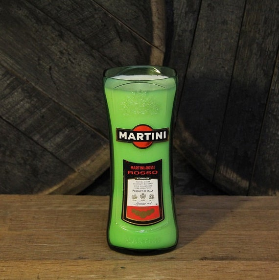 Martini Rossi Rosso Candle - Groom Gift, Anniversary Gift, Wedding Gift, Recyled 1L Liquor Bottle 22oz Soy Wax Candle, Louisville Kentucky