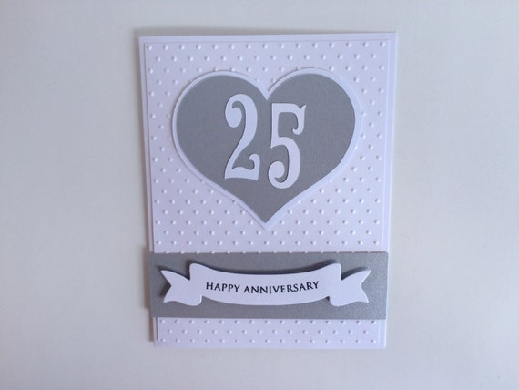 Silver Wedding Anniversary Gifts For Him: Items Similar To Silver Anniversary Card, 25th Anniversary