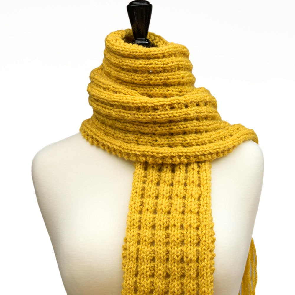 yellow scarf mustard scarf with fringe s