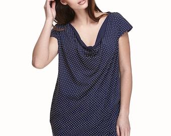 Tunic dress | Blue white dress | Navy sundress | Summer dress | Dress with pockets | Womens sundress | House dress | Dress | MUSE'tta dress