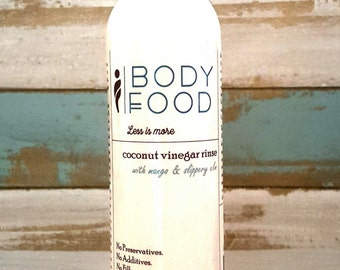 Coconut Vinegar Conditioning Rinse with Slippery Elm Bark Powder and Mango Extract - 8 oz
