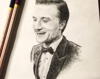 Original Josh Hutcherson Portrait Sketch