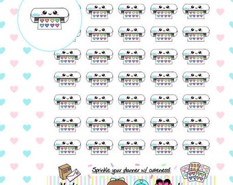 Kawaii Silhouette Stickers | Perfect for any Planner (#187)