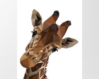 Geometric Giraffe Etsy