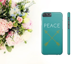 Peace Arrows iPhone Case, Blue Phone Case, 6, 6S, Plus, 5, 5S, 5C, 4, 4S, Slim Tough Durable iPhone Case.