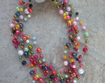 Statement Necklace, Chunky Necklace, Bib Necklace, Collar Necklace - Chanel Inspired!