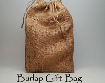 Gift Wrapping - Handmade Burlap Gift-Bag for your Wood Photo