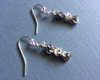 Chain Maille Earrings // Bridesmaid Gift // Anniversary Gift for Her // Gift Ideas for Her // Women's Accessories